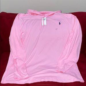 Mens POLO RL pink hoody